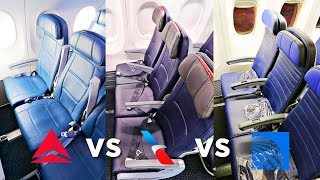 UNITED vs AMERICAN vs DELTA Economy Class | Which Airline Is Best?! | Economy Week