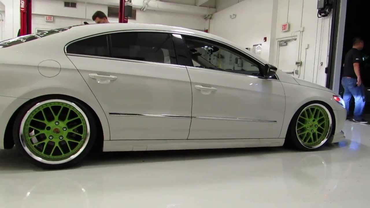 Vw Cc Bagged And On Porsche Rims Youtube