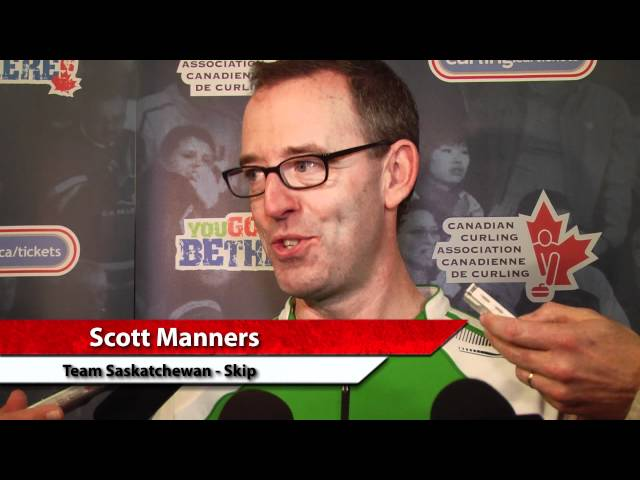 2012 Tim Hortons Brier Draw 10 Media Scrum