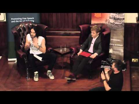 Russell Brand at the Cambridge Union Society