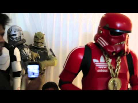 Red Adidas Stormtrooper & Bossk Dancing @ Skybar Party