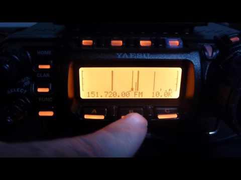 FT-857D Inbuilt Spectrum Scope
