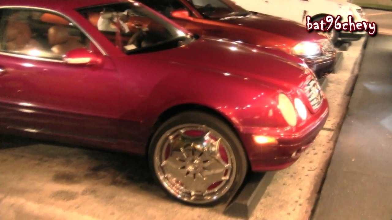 Female S Candy Pink Mercedes Benz Coupe On 22 Quot Dub Ganja