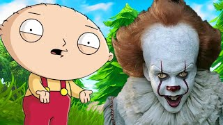 PENNYWISE & FAMILY GUY voice impressions in Fortnite | Pennywise & Family Guy Voice Trolling