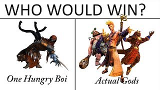 Who would win? 1 hungry boi or Actual Gods (SMITE)