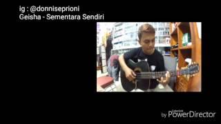 Geisha Sementara Sendiri OST SINGLE lyric video cover