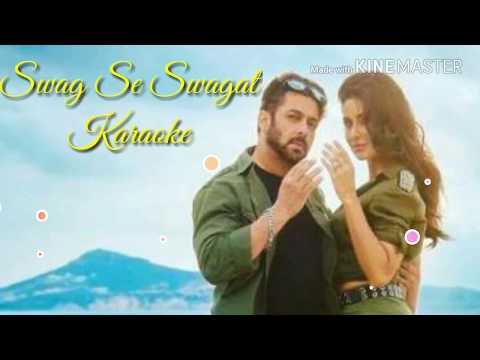 Swag Se Swagat Karaoke With Lyrics | Vishal Dadlani | Neha Bhasin | Tiger Zinda Hai