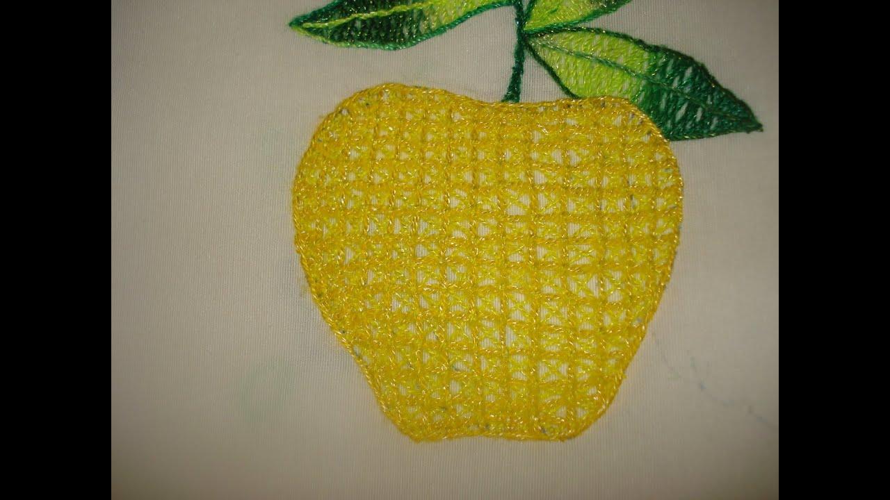Bordado fants a manzana cuadros con x parte 1 de 2 youtube - Como hacer cuadros de tela ...