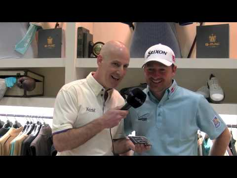 Graeme McDowell Takes The Beer Mat Challenge / Kartel Clothing Launch / 2013 PGA Show