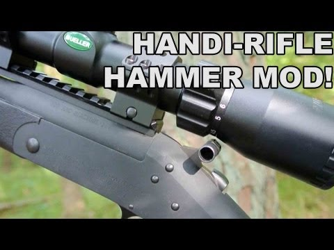 Handi-Rifle Hammer Mod! Getting Clearance for a Scope