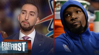 Nick Wright explains why America relates better to Westbrook than Durant   FIRST THINGS FIRST