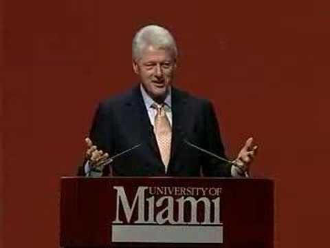 Pt. 1: President Bill Clinton at University of Miami
