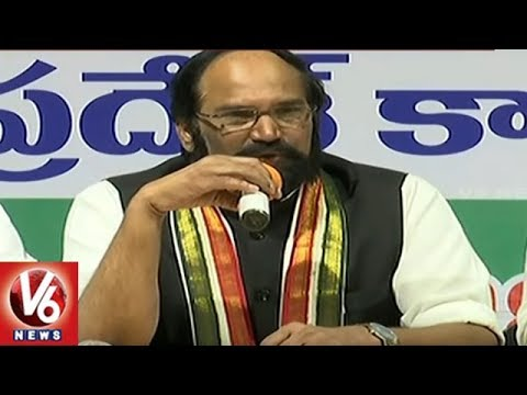 TPCC Chief Uttam Kumar Reddy Criticizes CM KCR & PM Modi Over Petrol Prices | V6 News