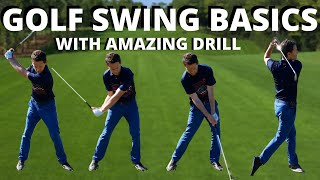 GOLF SWING BASICS - This Amazing golf drill will show you the EASIEST way to Swing a Golf Club