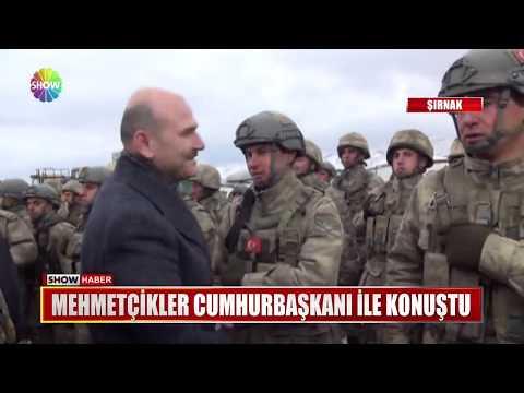 Mehmetçikler Cumhurbaşkanı ile konuştu