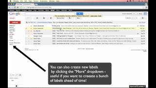 Gmail Tutorial 2013 - Email Organization and Labels (Part 3)