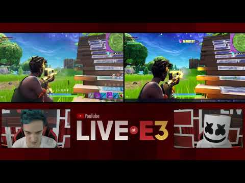 Victory Royale! Ninja and Marshmello Play Fortnite at the YouTube Live at E3 Studio Part 3