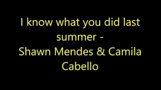 download lagu I Know What You Did Last Summer - Shawn gratis
