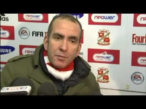 Paolo Di Canio booting his own player up the arse, and Graham Westley ...