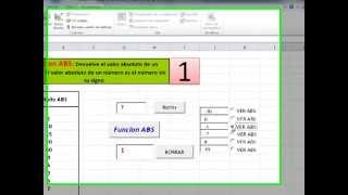 Funcion No 1:  ABS Excel 2010 con Visual Basic