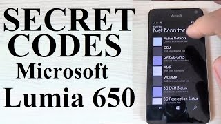 Microsoft Lumia 650 SECRET CODES