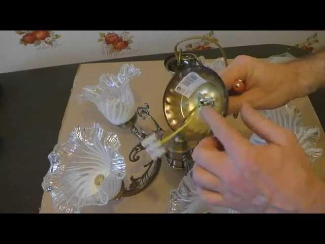Установка китайской люстры своими руками