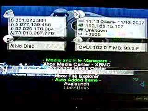 XBox DuoX2 320GB HDD Slayer Avalaunch XBMC