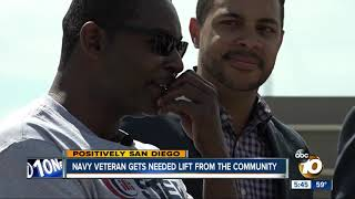 San Diego veteran gets new ride after car gets makeover