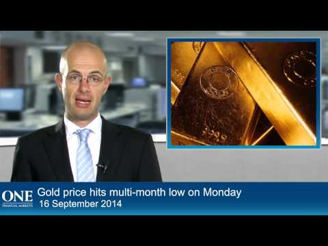 Gold price hits multi-month low on Monday