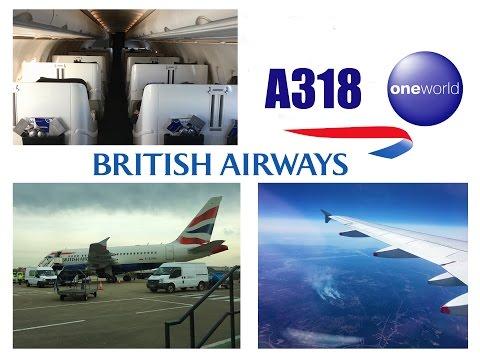 British Airways Business Class Airbus A318 London City to New York JFK FULL FLIGHT