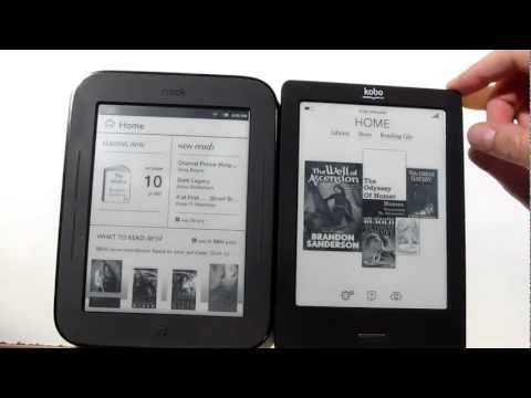 New Nook vs Kobo Touch Comparison