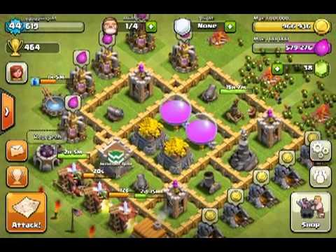 Clash of clans level 5 farming set up youtube