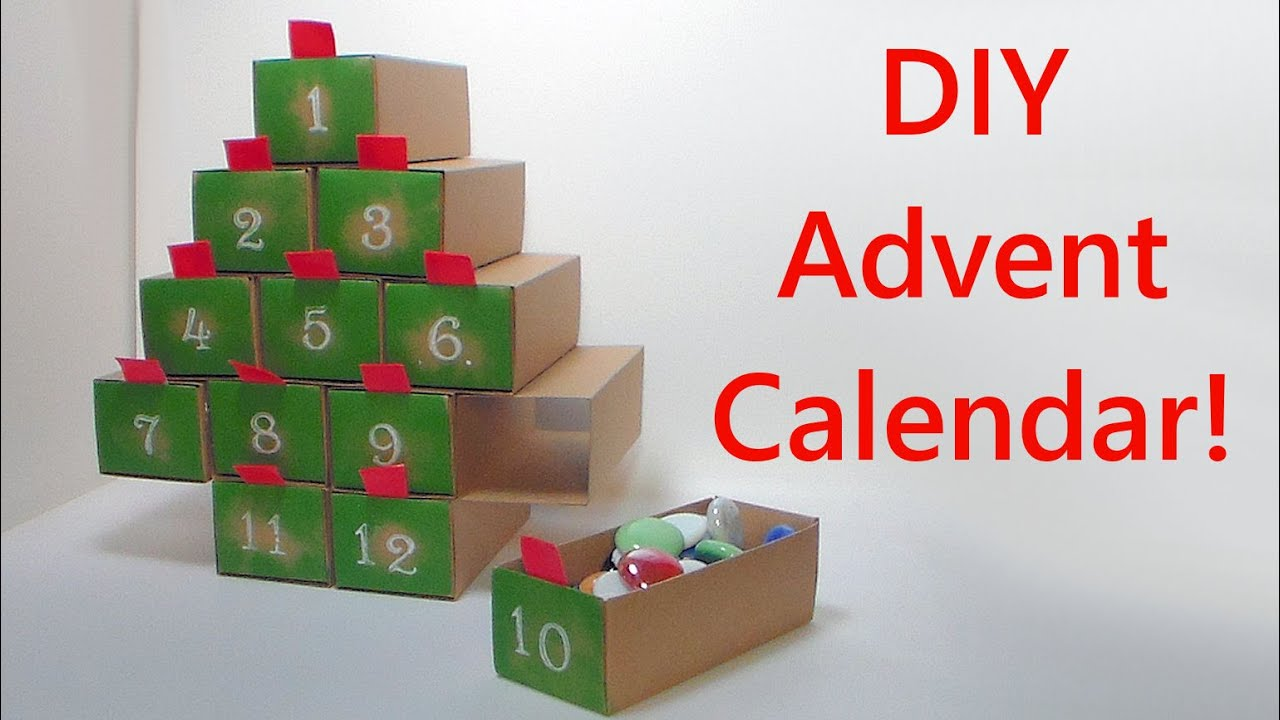 diy easy 12 day advent calender with big drawers