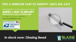 How to identify a miter corner lock window part