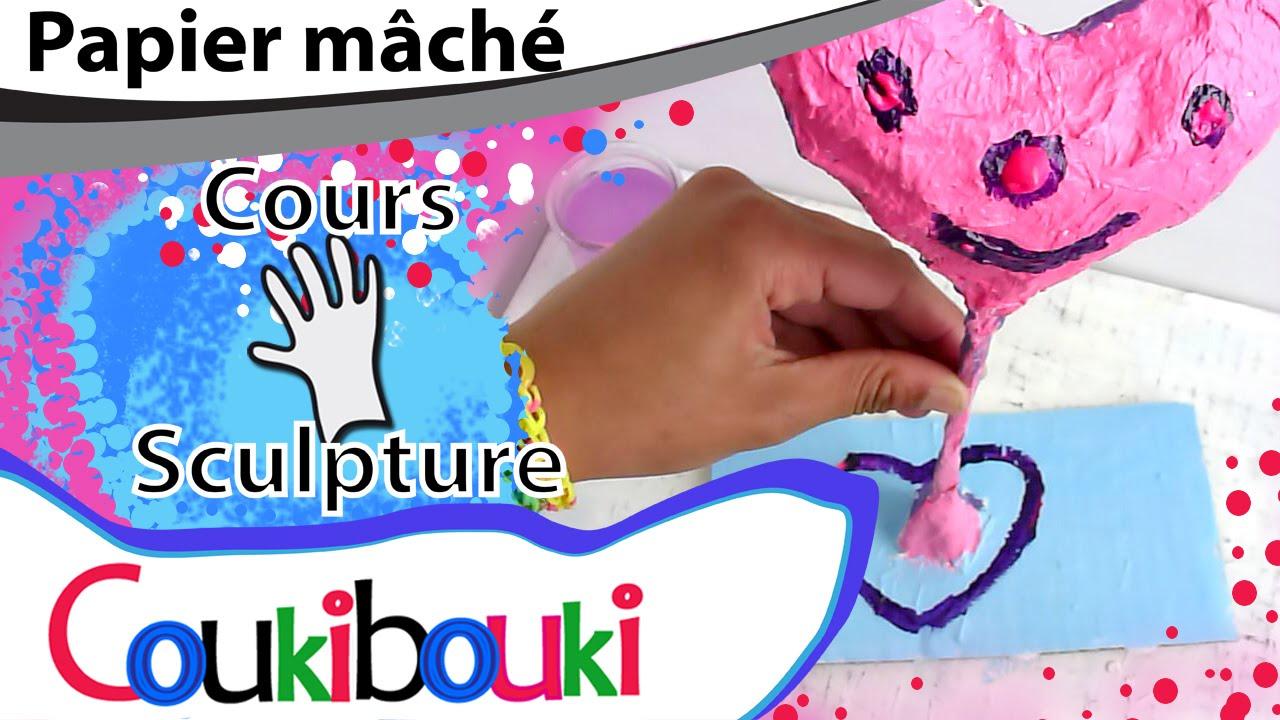 CŒUR en papier mâché Cadeau Fête des Mères - COURS COUKIBOUKI ...