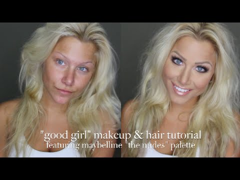 Maybelline The Nudes Palette Day Time Good Girl Hair And Makeup Tutorial video