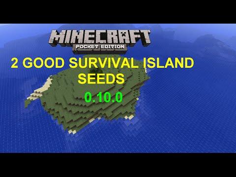 [MCPE 0.10.0+] 2 EPIC BIG AND SMALL SURVIVAL ISLAND SEEDS | MINECRAFT PE