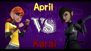 April vs. Karai || TMNT 2012/Epic Rap Battles Of History