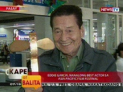 KB: Eddie Garcia, nanalong best actor sa Asia Pacific Film Festival