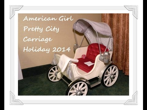 Opening American Girl Doll Pretty City Carriage Holiday Collection 2014 Plus Surprises