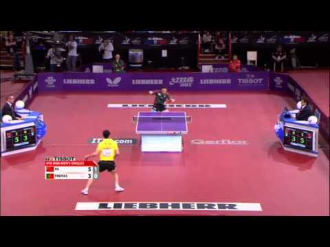 WTTC 2013 Highlights: Xu Xin vs Marcos Freitas (1/8 Final)