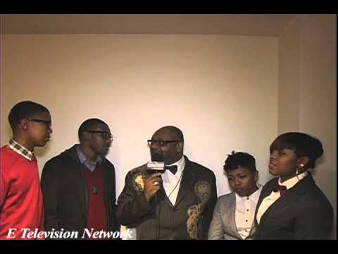 E Television Network live at the 2013 Stellar Awards Demetruis Wood Interviewing the Walls Group