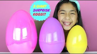 3 GIANT SURPRISE EGGS | MLP, MINNIE, SHOPKINS, FROZEN ACTIVITY KIT|B2cutecupcakes