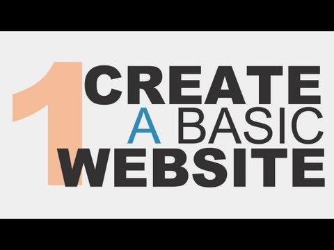 Learn the Basics: Create a Basic Website Using HTML5 Part 1