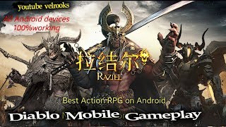 La mejor Copia de DIABLO para Android ( RAZIEL ) hack RPG Open BETA -  Diablo Inmortal  gameplay
