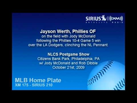 Jayson Werth, Phillies OF, after NLCS Game 5 w/ Jody McDonald on Sirius|XM Radio Video