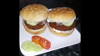 Mcveggie burger mcdonalds style  at home