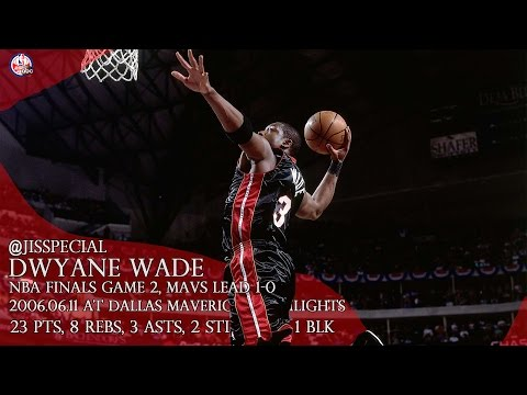 ThrowBack: 2006.06.11 NBA Finals G2 at Dallas Mavericks Dwyane Wade Highlights, 23 pts