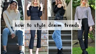 HOW TO STYLE MOM JEANS + CROPPED FLARE JEANS | DENIM TRENDS 2017