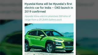 Hyundai Kona Hyundai s first Electric Car for India